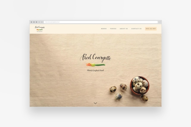 Red Courgette Website – WIP